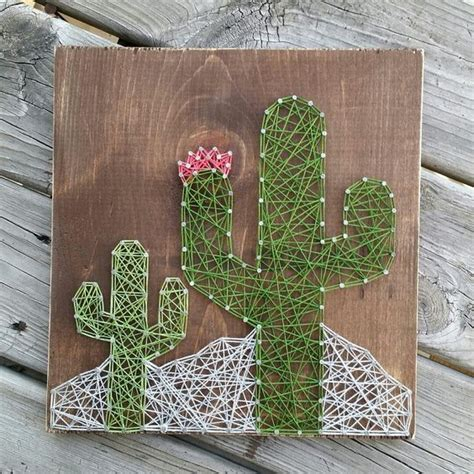 String Etsy - string cactus and signs on