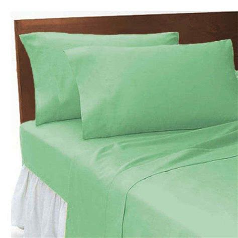 plain dyed sheets set mint green linens range