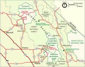 sequoia california map sequoia maps npmaps just free maps period