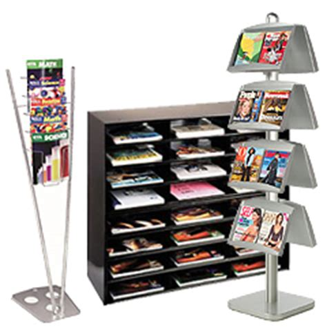 magazine holders for bookshelves magazine racks modern acrylic wood metal literature displays