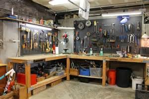 Garage Organization Workbench L Shaped Garage Workbench With Pegboard Tool Storage The