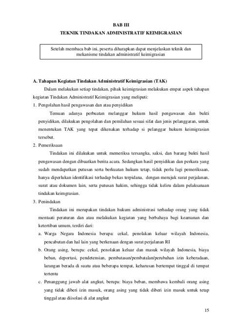 Contoh Berita Acara Pelatihan Keamanan Dan Ketertiban by Tindakan Administratif Keimigrasian