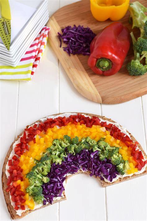 vegetables on pizza rainbow vegetable pizza
