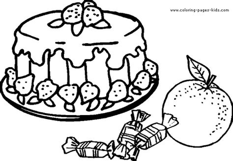cake with a delicious strawberry coloring book pages strawberry shortcake and friends fruit cake coloring page