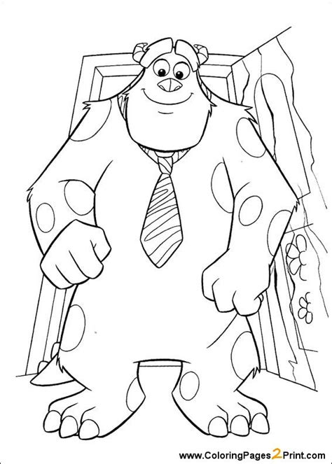 printable coloring pages monsters inc monsters inc coloring pages