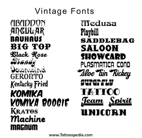 tattoo fonts make your own tony baxter