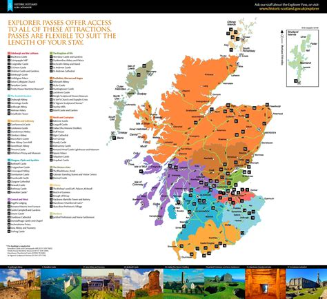 map of attractions scotland tourist attractions map