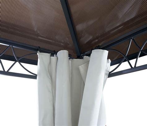 tende baldacchino gazebo pergola baldacchino hwc c77 3x3m tetto rigido con