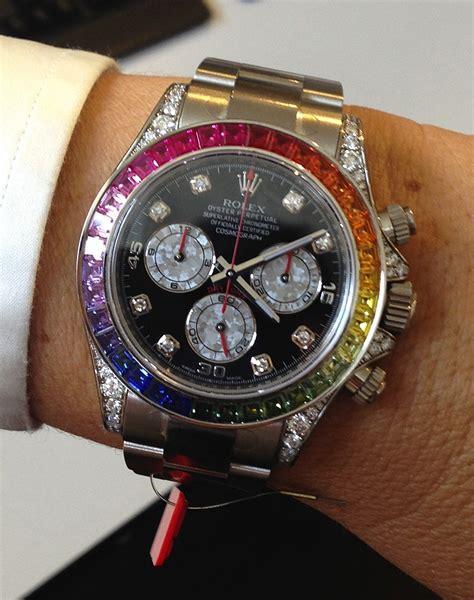 Rolex Daytona Silver Rainbow my top 3 coveted designer watches raindrops of sapphire