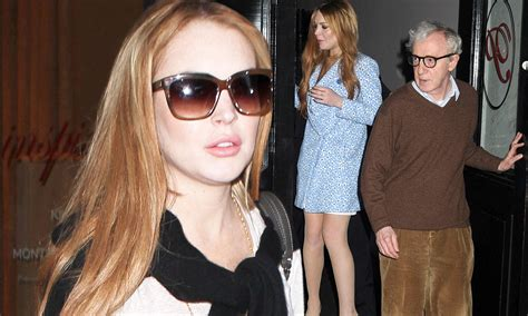 Is Lindsay Lohan Cleaning Up Act by Lindsay Lohan Cleans Up Act For Meeting With Woody