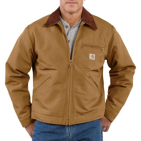 carhartt jacket carhartt s duck detroit blanket lined jacket model j001 northern tool equipment