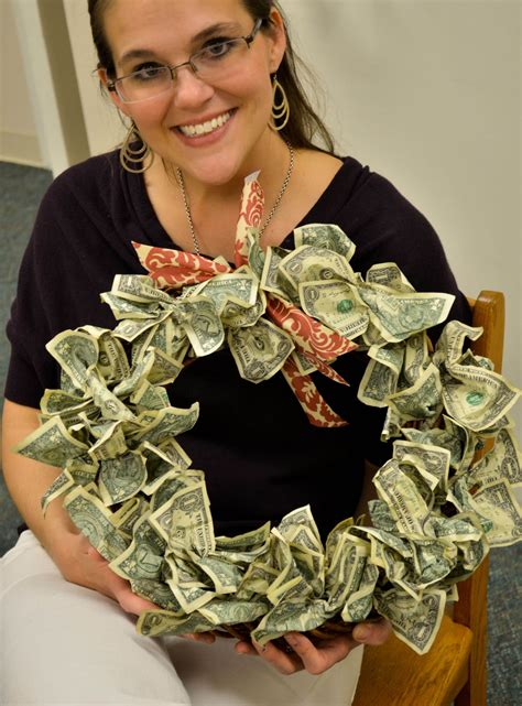 Money Origami Wreath - imperfection my birthday