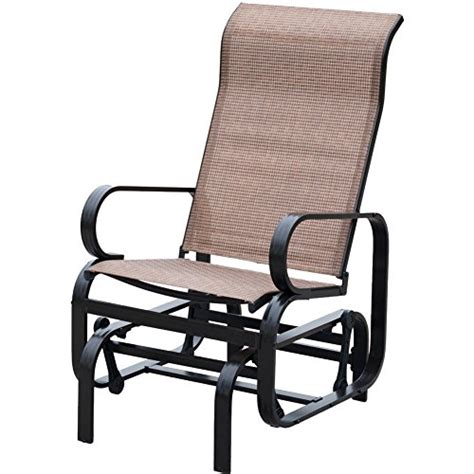 patiopost sling glider outdoor patio chair textilene mesh
