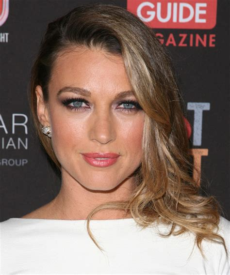 Natalie Zea Long Straight Formal Hairstyle   Dark Blonde