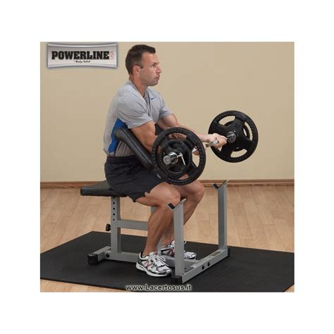 banc 224 biceps home preachercurl ppb32x powerline