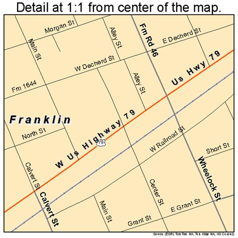 franklin texas map franklin texas map 4827288