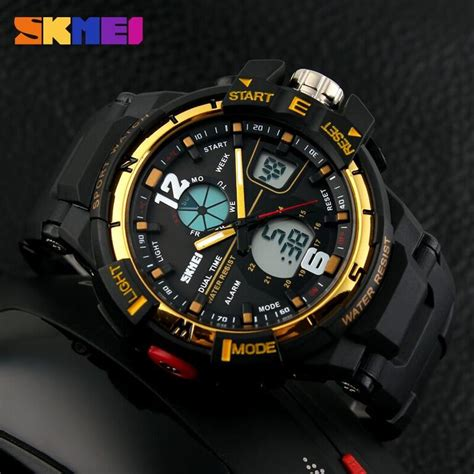 Jam Tangan Skmei 1155 Waterproof Digital Analog 100 Original Murah skmei jam tangan sporty digital analog pria ad1148 black gold jakartanotebook