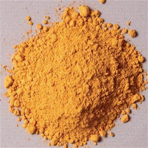 in the pigment powder lemon ocher pigment pigments