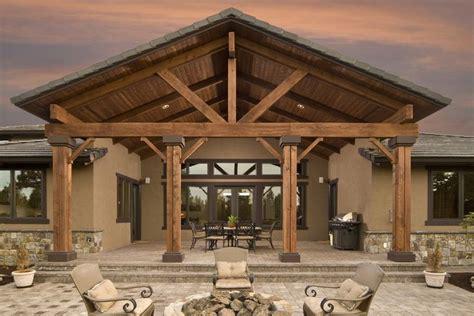 custom patio cover cedar patio cover roofed patio cover