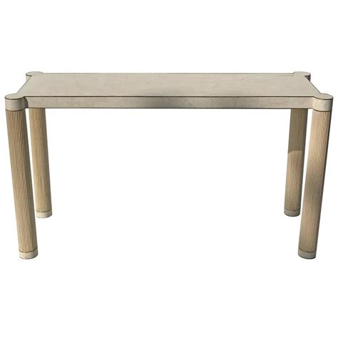 stone sofa table tessellated stone and brass console or sofa table