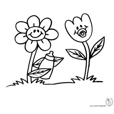 disegni da colorare dei fiori disegno di fiori animati da colorare per bambini