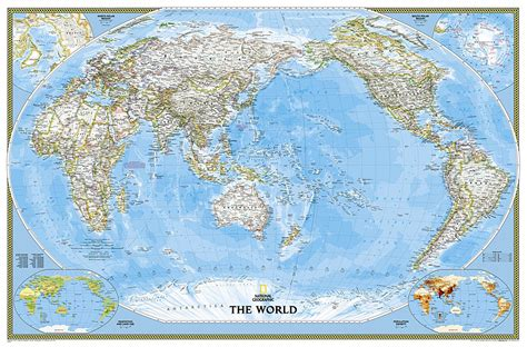 world of rivers map national geographic buy world classic pacific centered enlarged and