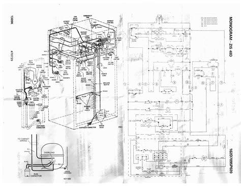 ge wiring diagram refrigerator parts ge profile side by side refrigerator