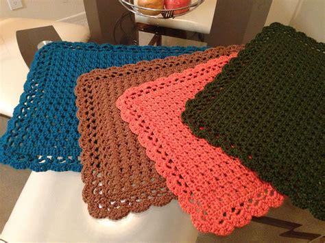Crochet Table Mats - cross crochet placemats crochet crochet placemats