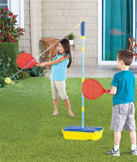 backyard tennis game all surface swingball 174 tether game kid s tennis playset