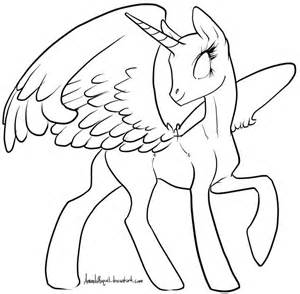 My Little Pony Template Alicorn Base Sketch Coloring Page sketch template