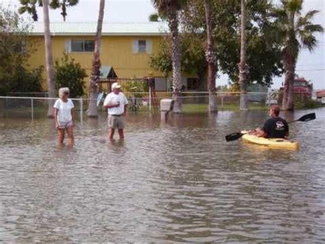 great ingleside tx  bay flood   hurricane ike youtube
