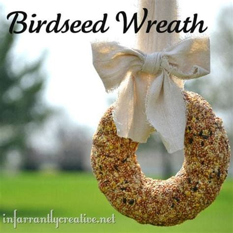 diy birdseed wreath diy birdseed wreath tutorial