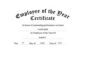 Employee Of The Year Certificate Template Free by Employee Of The Year Certificate Free Templates Clip