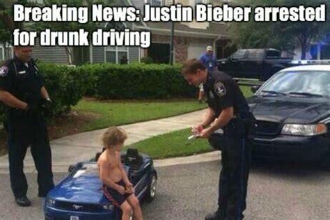 Drunk Driving Meme - justin bieber arrested memes funny arrest reactions
