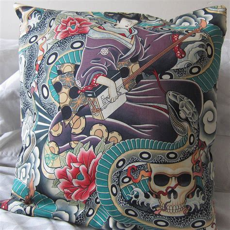japanese tattoo encyclopedia japanese tattoo cushion by twentysevenpalms