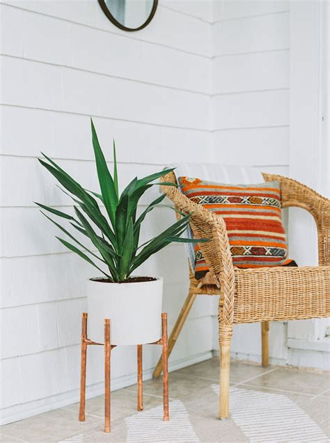 Planter Stand Indoor by Copper And Concrete Planter Modern Plant Stand Planter