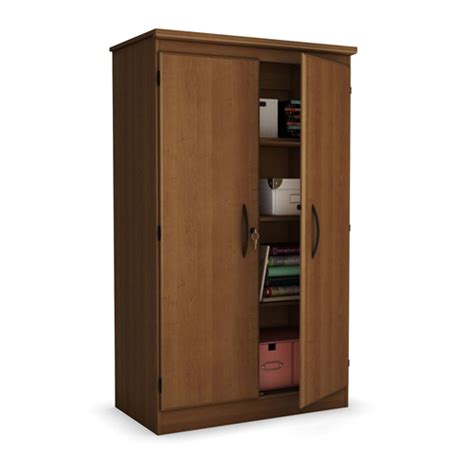 Living Room Storage Cabinets With Doors Cherry 2 Door Storage Cabinet Wardrobe Armoire For Bedroom Living Room Or Home Office