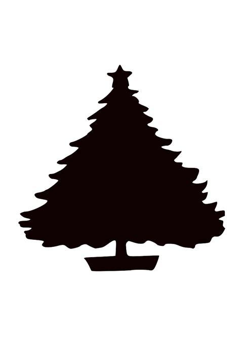 black christmas tree silhouette clip art vector clip art