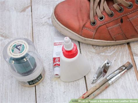 How To Patch Leather by How To Repair A Scrape On Faux Leather Shoes 13 Steps