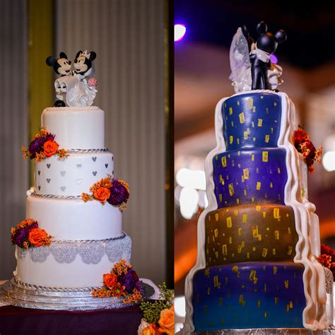 Wedding Cake Wednesday: Half and Half Cakes   Disney Weddings