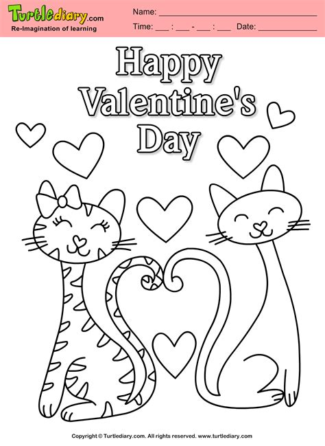 Happy Valentines Day Coloring Sheet Turtle Diary Happy Valentines Day Coloring Pages
