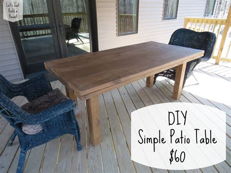 Diy Patio Table Plans Let S Just Build A House Diy Simple Patio Table Details