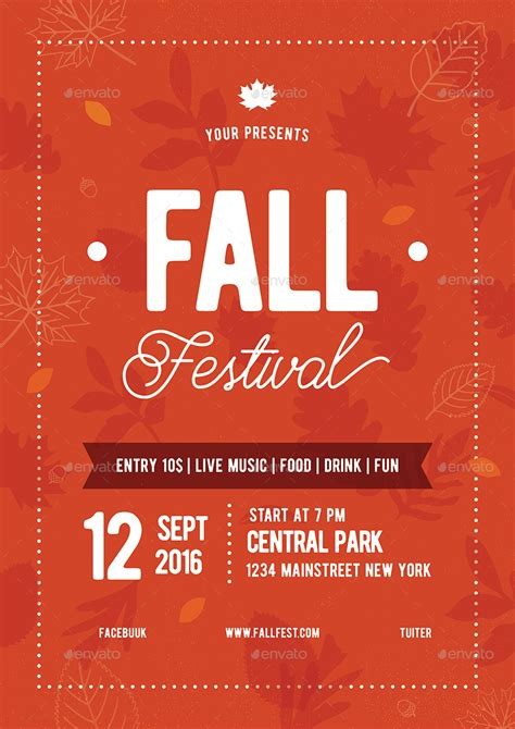 fall festival flyer   vynetta graphicriver