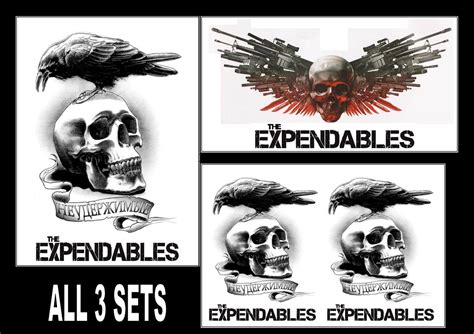 the expendables tattoo designs the expendables temporary tattoos large arm forearm back