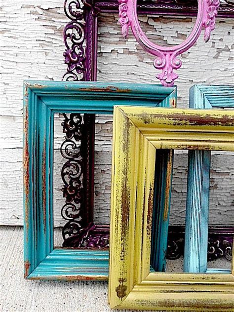beautiful painted vintage picture frames