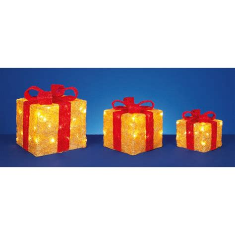 christmas led light up parcel
