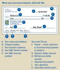 filling out a check