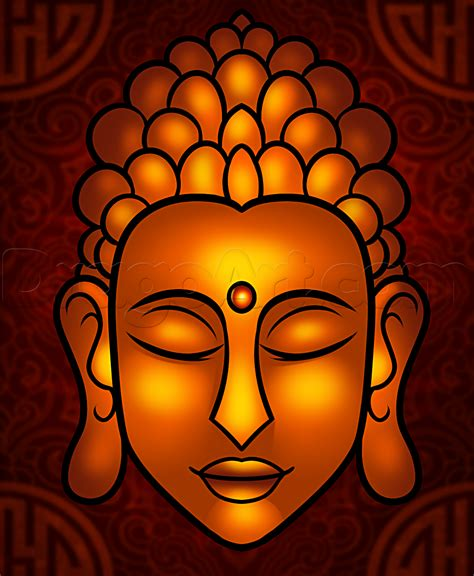 drawing easy how to draw buddha easy step by step faces free drawing tutorial added by