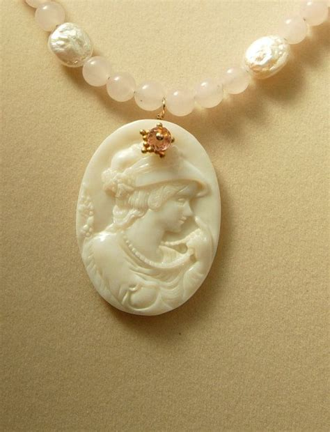 s day cameos s day cameo necklace with freshwater pearls and
