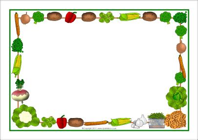 Fruit And Vegetable Borders Clip Art – 101 Clip Art Microsoft Garden Clipart